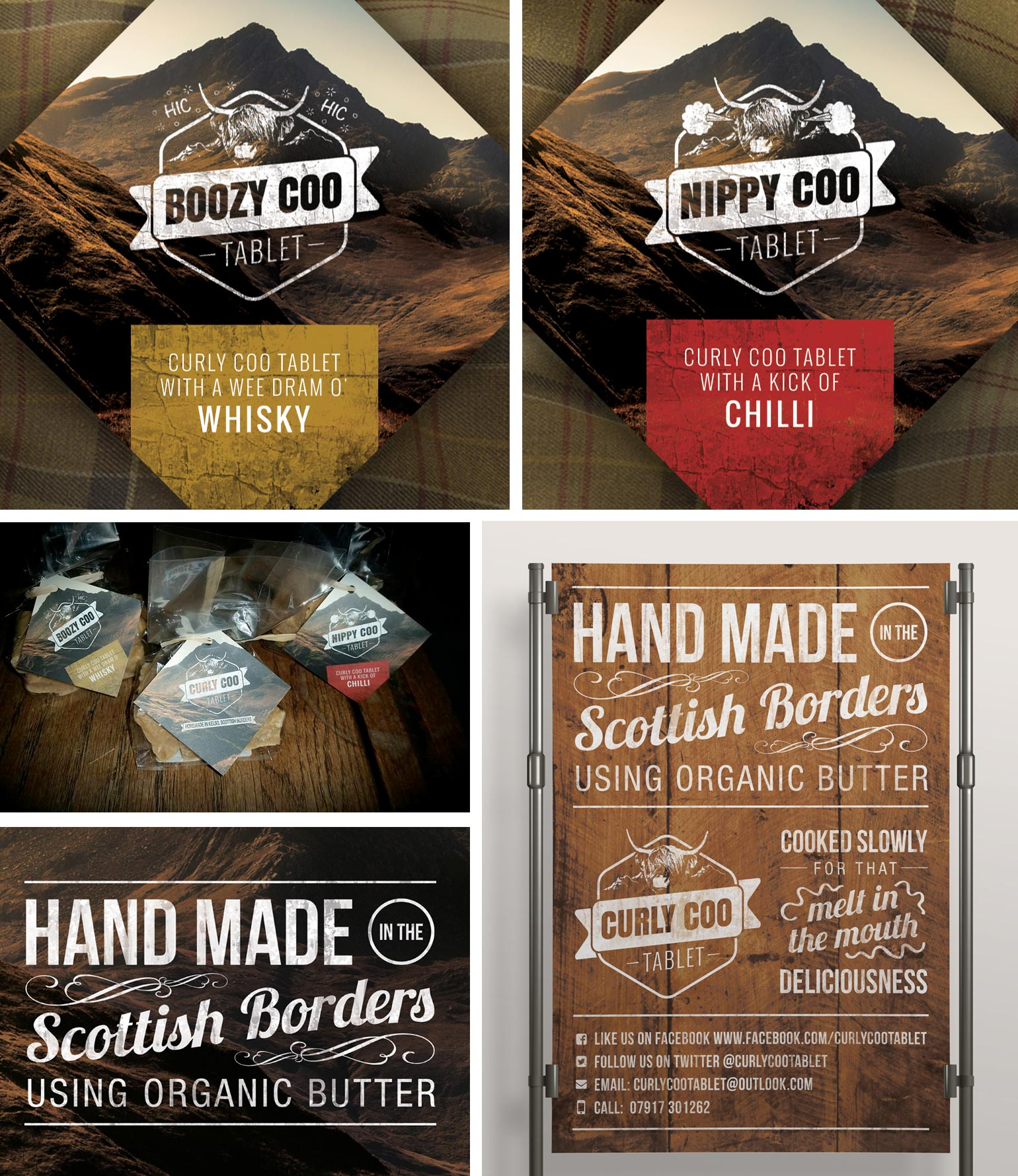Curly Coo Branding & Labels