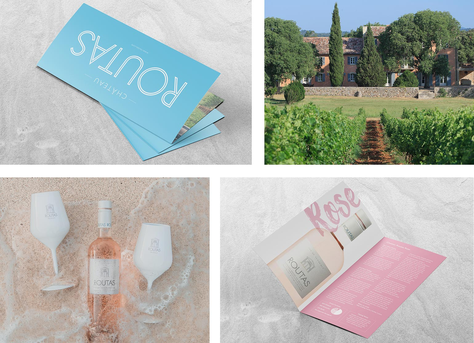 Graphic design for Chateau Routas